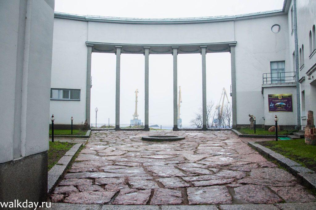 Внутренний двор выставочного центра Эрмитаж-Выборг.